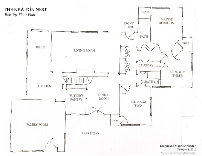 The Newton Nest - Existing Floor Plan