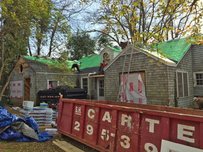 New shingles going on!