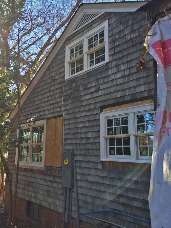 Side yard windows are in!