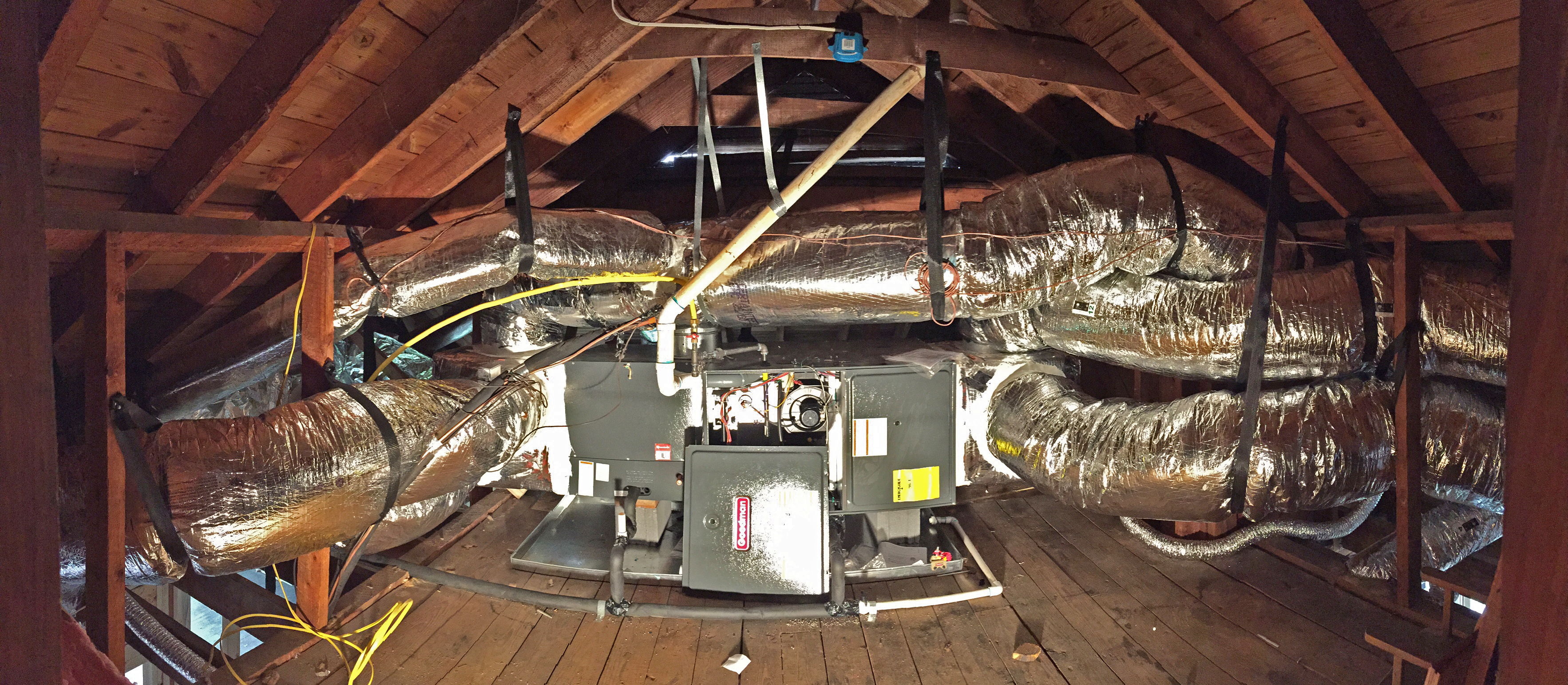 Hereu0027s a look at the heart of our HVAC system tucked away in the attic. & A Climate Controlled Nest | The Newton Nest