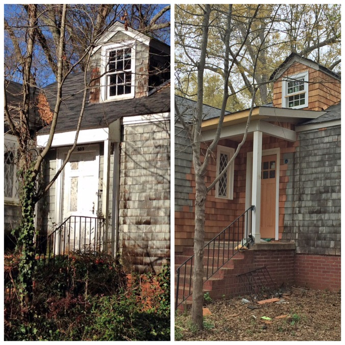 Front Porch Before & After