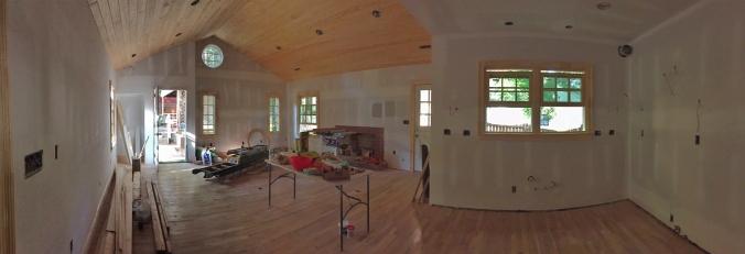 Ta-dah! Great room ceiling is in.