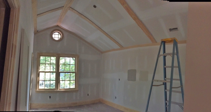 Master bedroom ceiling trim is in place. We are really loving the way this detail turned out!