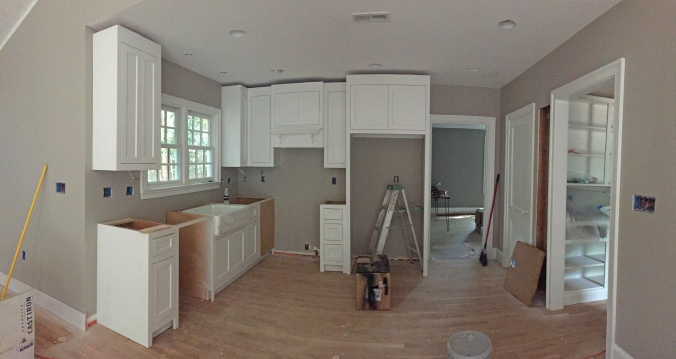 Cabinets going in... no island yet!